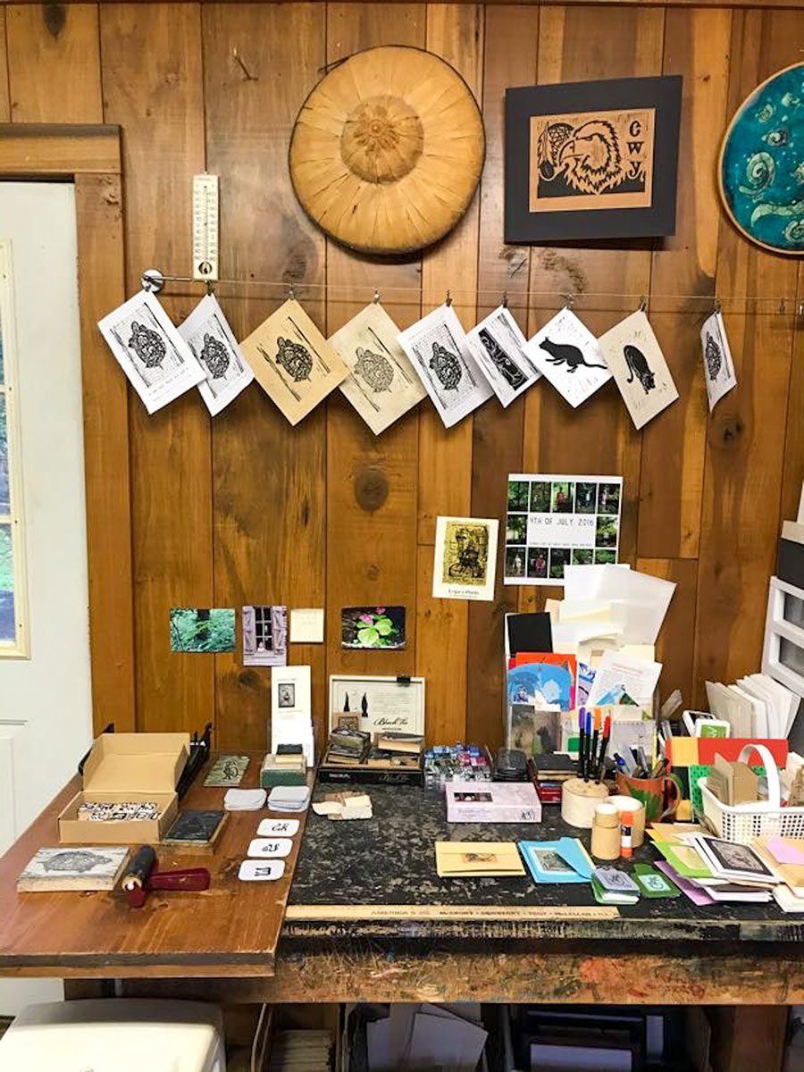 BarkWoodStudio-printed-cards-and-desk