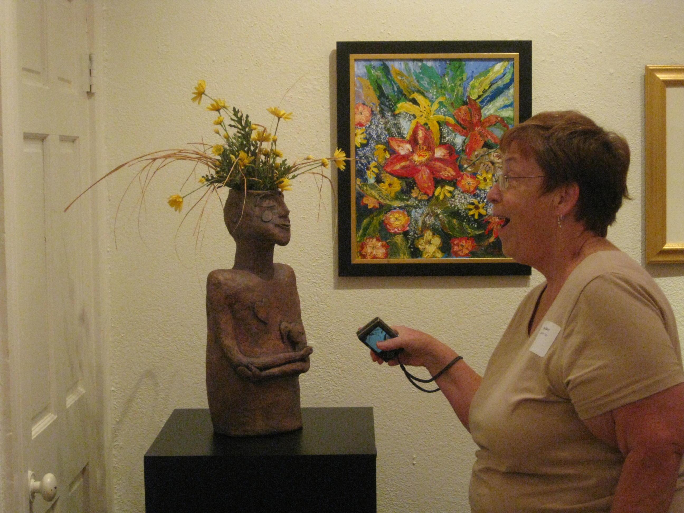 Caldwell AC w artist Carole Childers
