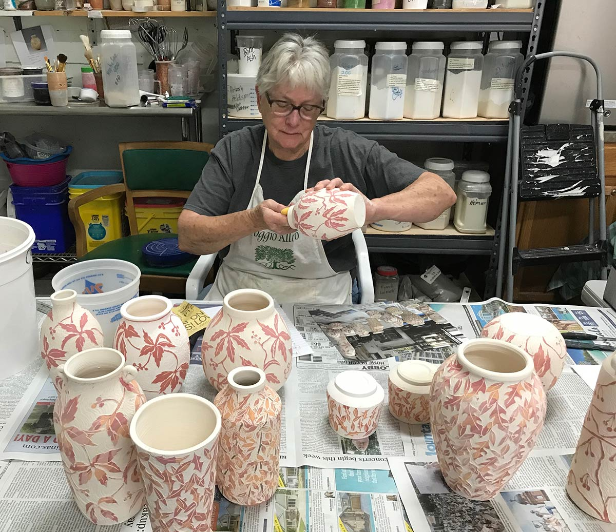 Dian-working-with-pottery