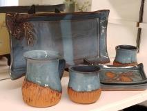 LocalHandmade-pinecone-pottery-set
