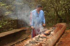 Canoe Hulling at Oconaluftee Indian Village