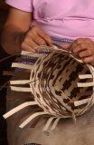 Cherokee basket weaver Louise Goings