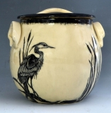 SusanCoe-heron-lidded-jar