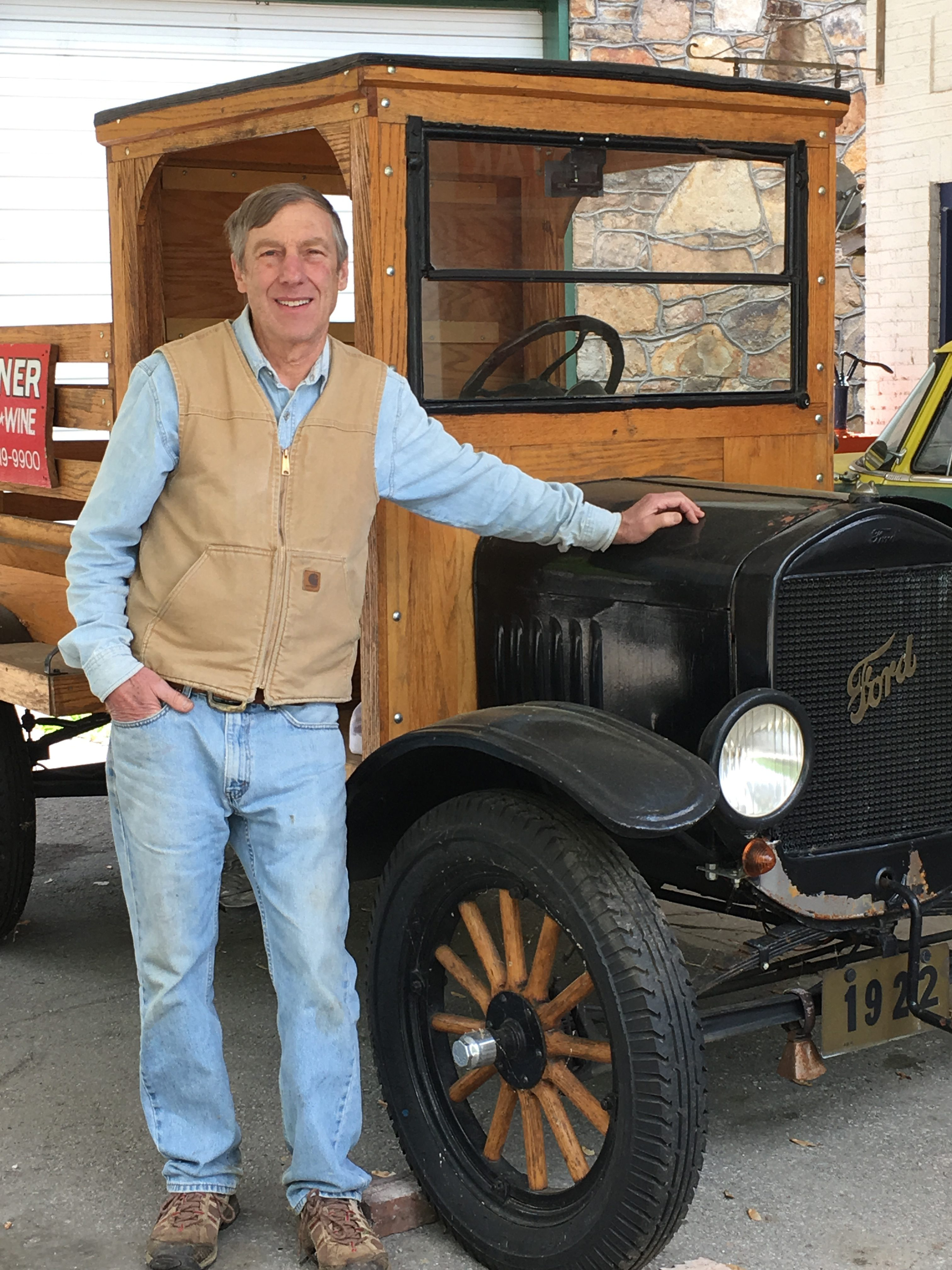 Wayne with Old Truck