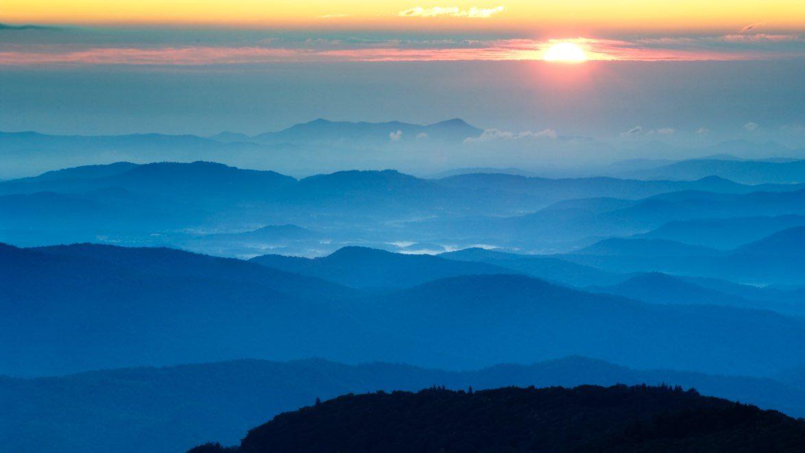 Blue Ridge Mountains sunset