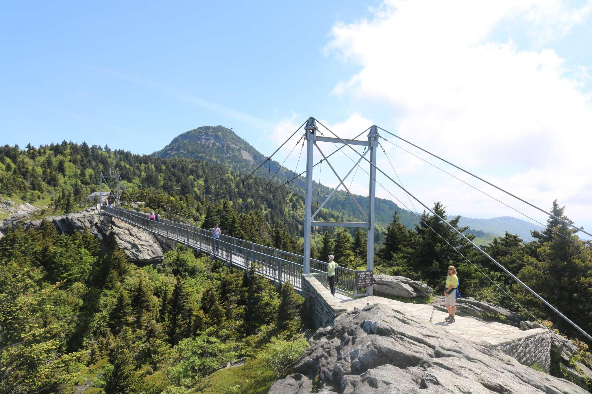 Grandfather Mountain swinging bridge