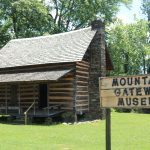 log cabin at Mountain Gateway