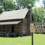 log cabin at Mountain Gateway