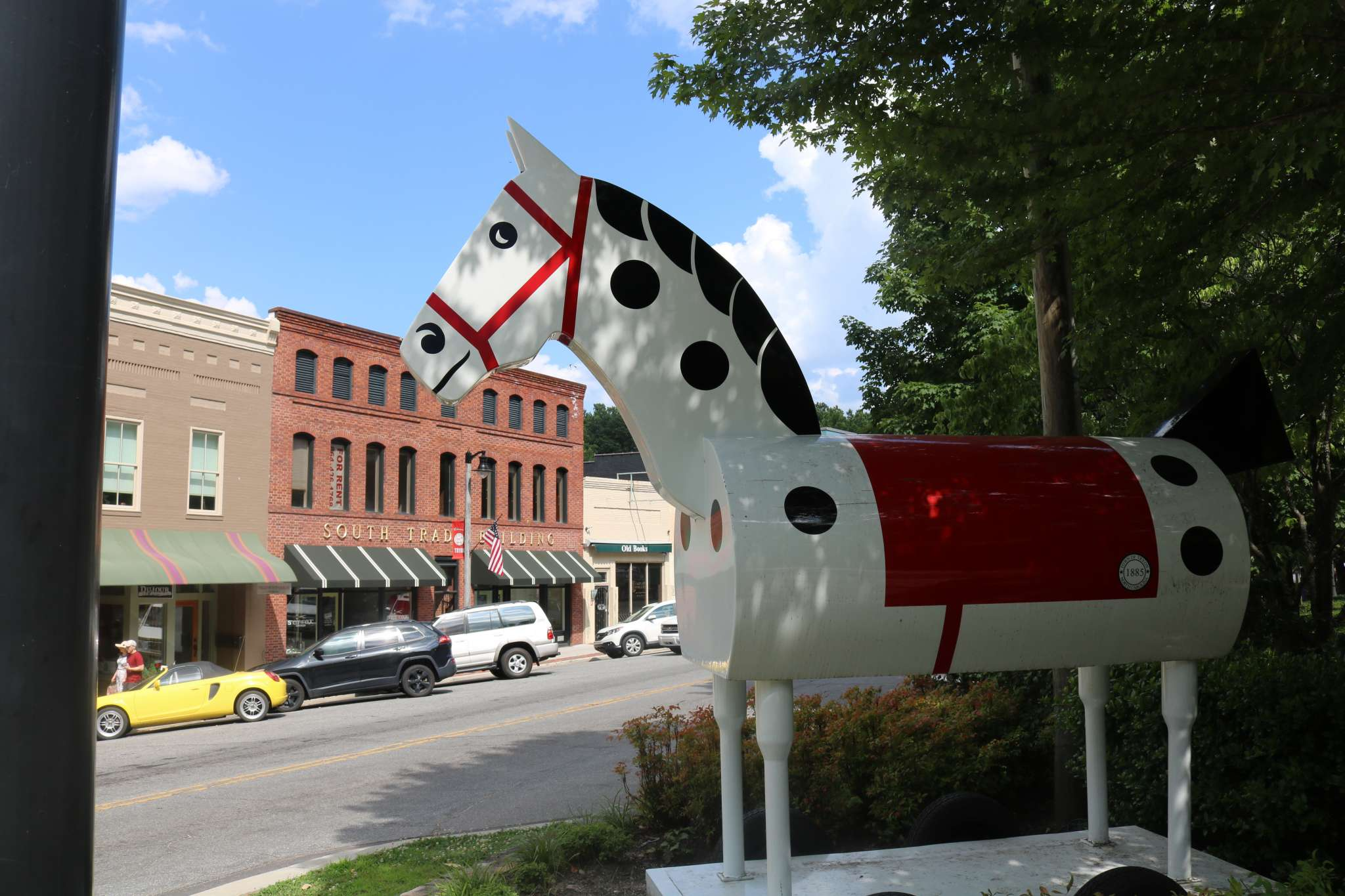 Tryon Rocking Horse in downtown Tryon