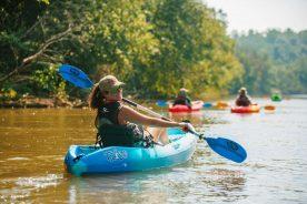 Yadkin River kayaker
