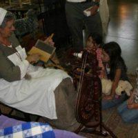 Anne Allison teaching children