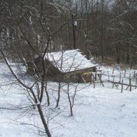 Appalachian Homestead cabin in the snow