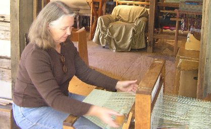 Jane Campbell weaving