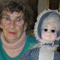 Ruth Coffey with doll