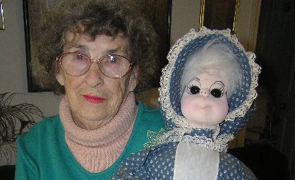 Ruth Coffey with doll