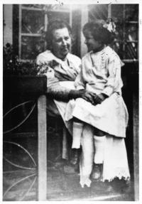 Jane Hicks Gentry with child