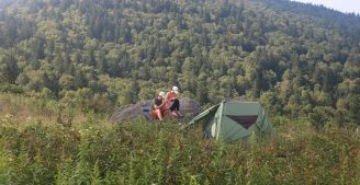 camping in the Blue Ridge Mountains