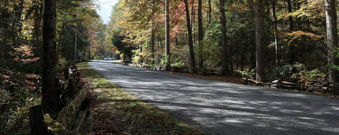 scenic byway in fall