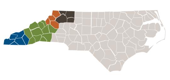 Blue Ridge National Heritage Area County Map