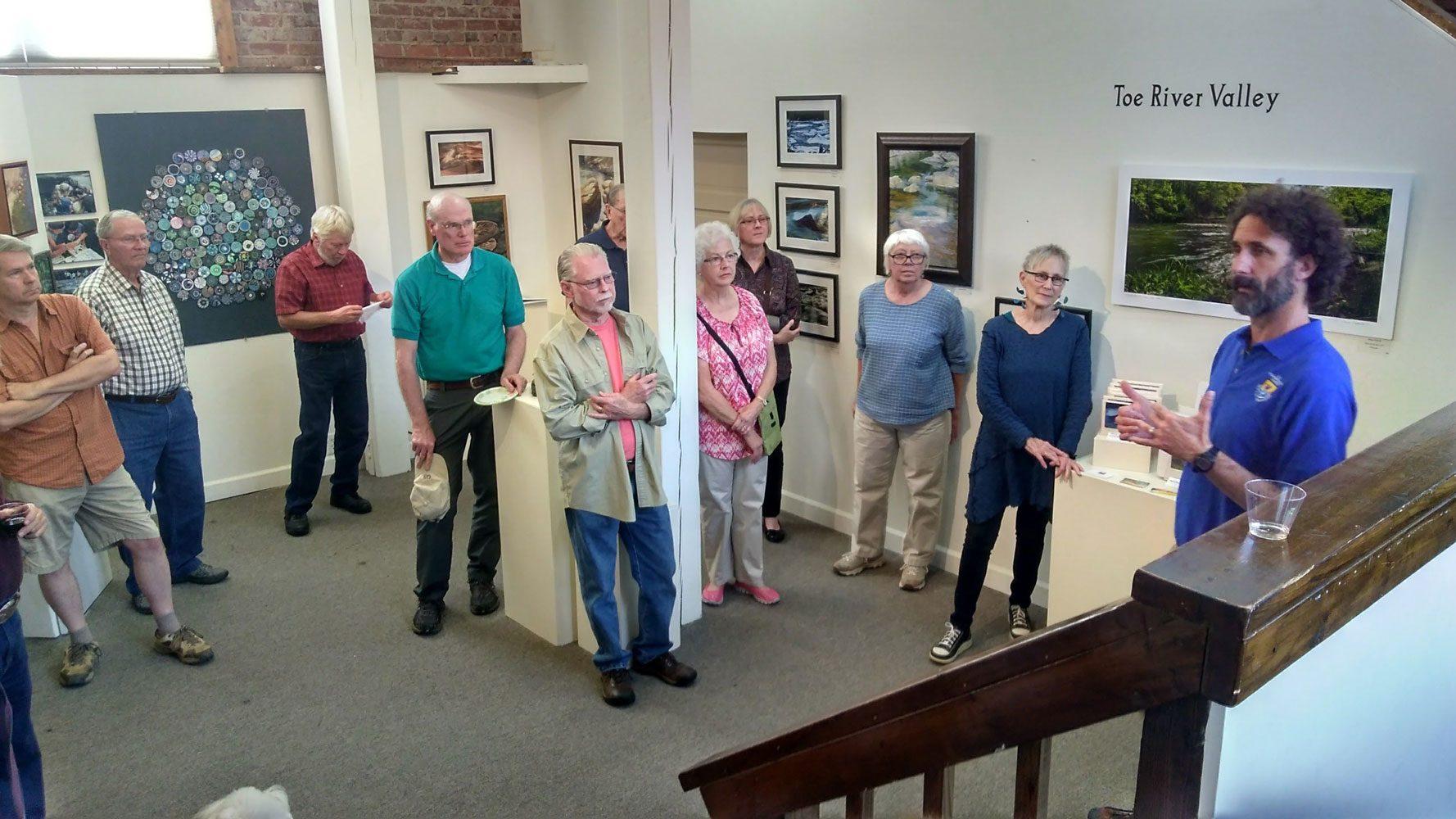 The Toe River Arts Council runs the Burnsville Gallery