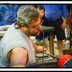 David Goldhagen, glass blower in Hayesville