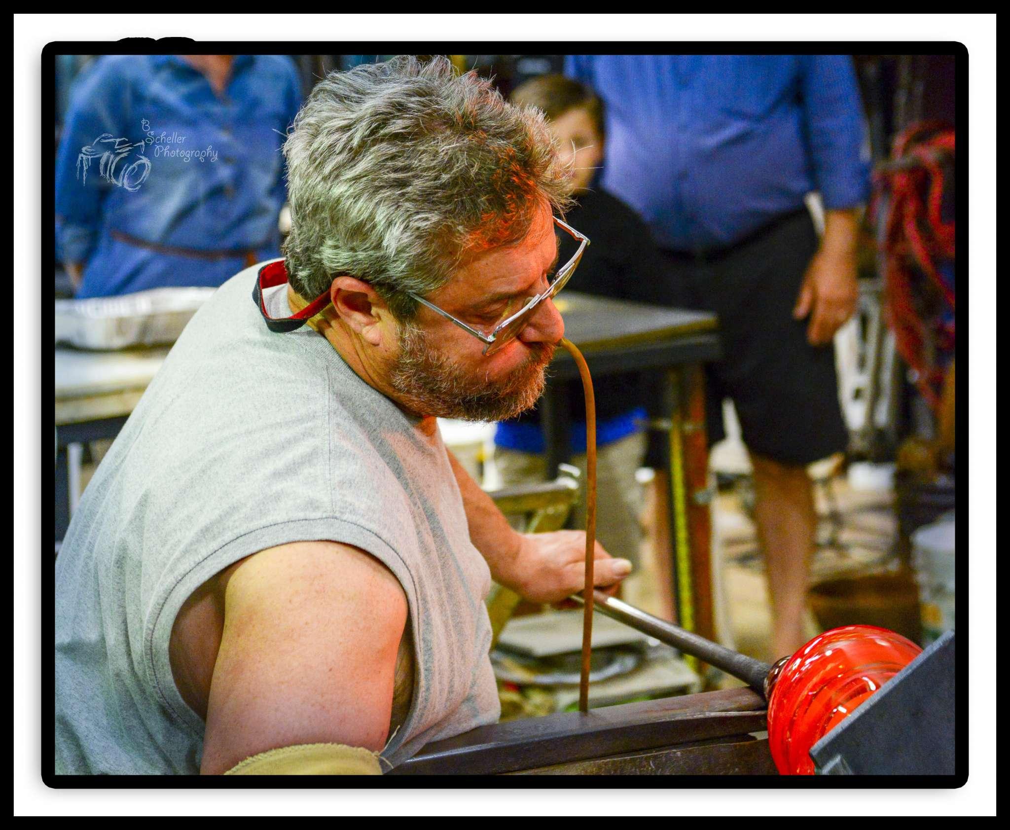 David Goldhagen, glass blower in Hayesville
