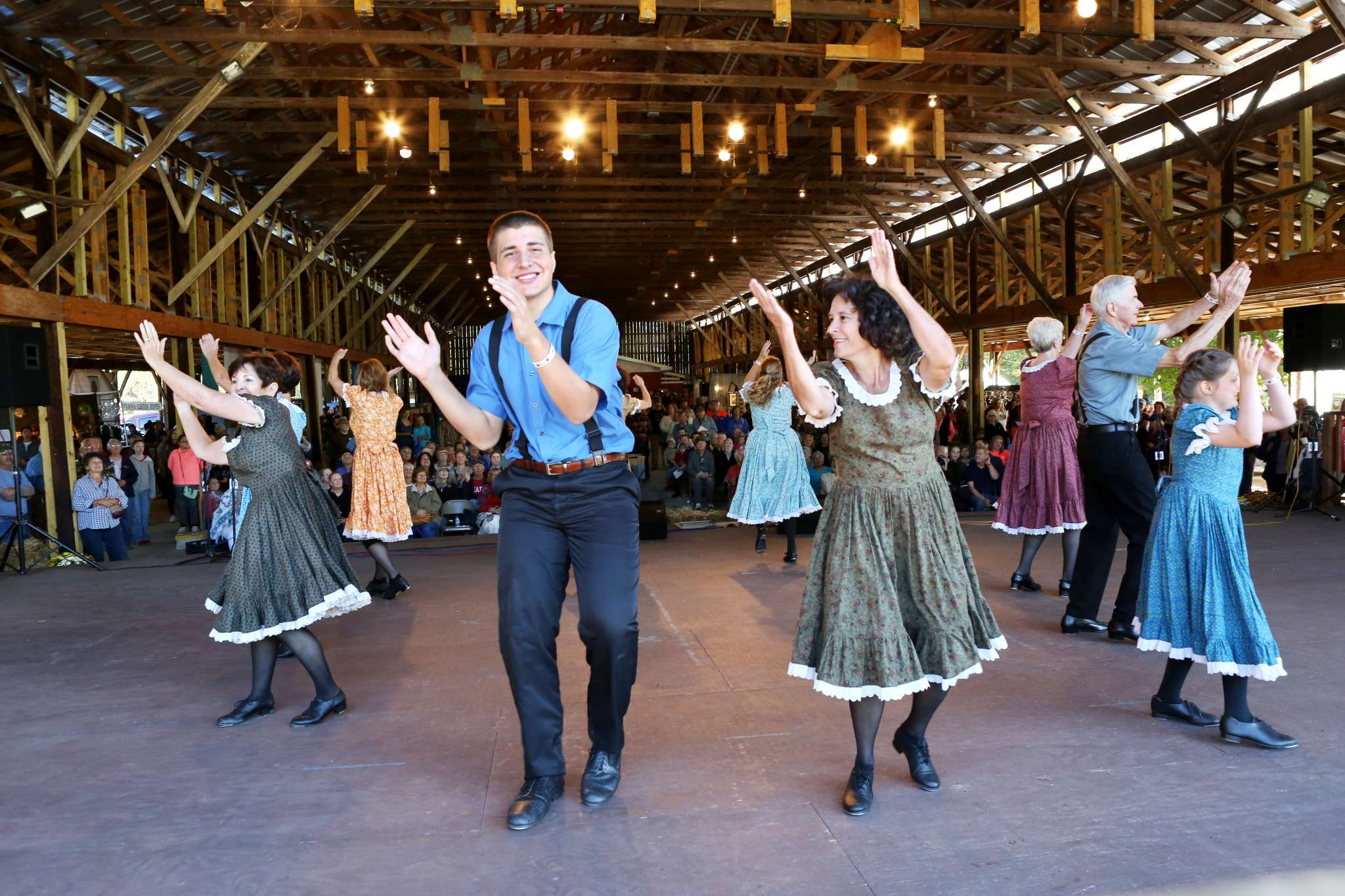 Cloggers at John C. Campbell Folk School Fall Festival