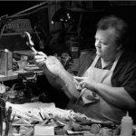 Bob Kogut in violin shop