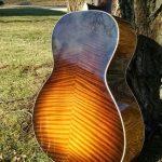 Henderson Jayne sunburst guitar back