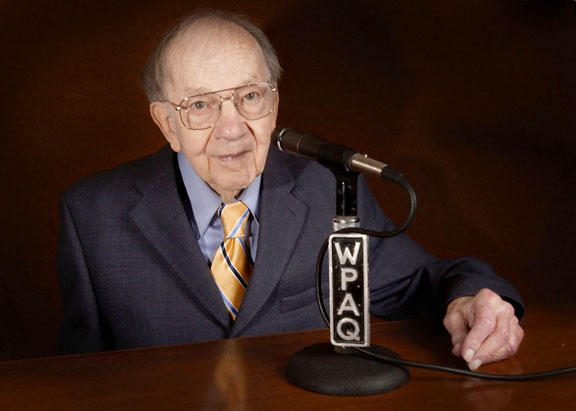 Ralph Epperson, founder of WPAQ in Mount Airy, a legendary bluegrass radio station, poses for a photograph.