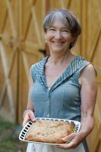 Barbara Swell with pie