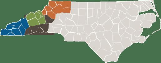 WNC Region Map