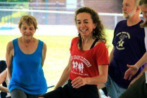 Linda Block teaching dance at Fiddlers Grove